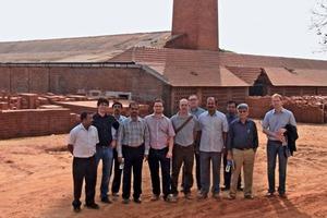 "<span class=""bildunterschrift_hervorgehoben"">»2</span> Following the conference, the delegation visited three brickworks<br />"