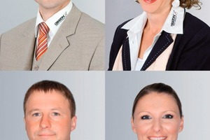 &gt;&gt; Creaton AG's marketing and sales team: Jens Philippi, Ivanka Burger, Helmut Stegmann and Sandra König (from top left to bottom right)<br />