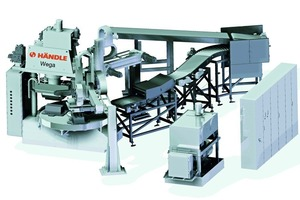 "<span class=""bildunterschrift_hervorgehoben"">»1</span> Händle Wega SIII with clay bat feed, tilting conveyor, handling portal, vacuum generating set, control system and switch cabinet"