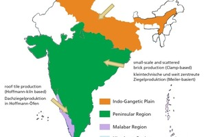 """<span class=""""bildunterschrift_hervorgehoben"""">»1</span> Geografischer Überblick über die Ziegelherstellung in Indien<br />"""