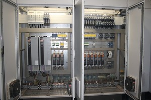 "<span class=""bildunterschrift_hervorgehoben"">»</span> The clear-cut structure of the control cabinets is state of the art"