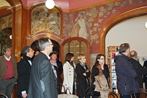 "<span class=""bildunterschrift_hervorgehoben"">»4</span> On the city tour the participants were introduced to art nouveau and art deco buildings in Brussels<br /><br />"