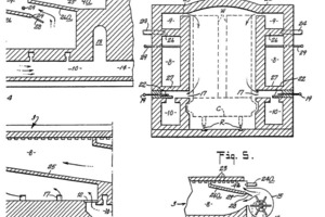 """<span class=""""bildunterschrift_hervorgehoben"""">»2</span> Laterally and roof ducted recirculation system with external ventilators – Patent Hanley (from the original Patent document)"""