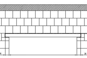 ››1 Randbedingungen für Flachstürze mit einer mehrlagigen Übermauerung und 71 mm oder 113 mm hohen Zuggurten