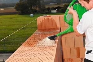 """<div class=""""bildtext_en"""">»1 How to use mortar tape: a) Moisten the bricks</div>"""