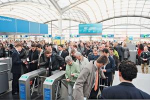 "<span class=""bildunterschrift_hervorgehoben"">»</span> More than 230000 visitors came to the Hannover Messe 2011<br />"