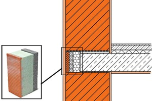 "<div class=""bildtext_en""><span class=""bildnummer"">»2</span> Brick shell on the outside, thermal insulation on the inside: Unipor slab edge elements enable not only a homogeneous wall structure, but optimize thermal bridges and sound insulation at the slab joint</div>"