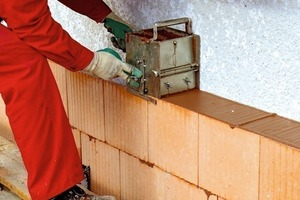 ››3 The blocks are built up based on the precision brick method, with the supplied thin bed mortar and correct application with the mortar sledge
