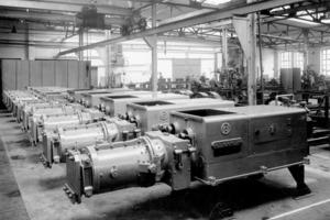 """<span class=""""bildunterschrift_hervorgehoben"""">»1</span> The Händle machine shop in 1935<br />"""
