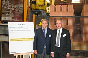 "<span class=""bildunterschrift_hervorgehoben"">»1</span> Dario and Giancarlo Marcheluzzo, Managing Directors of Marcheluzzo Impianti, in front of the new Wienerberger plant in Durtal<br />"