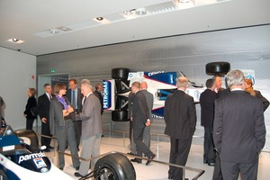 """<span class=""""bildunterschrift_hervorgehoben"""">»4</span> Among the many see-worthy objects at the BMW Museum: Formula 1 racing cars<br />"""