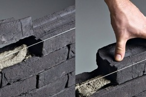 "<span class=""bildunterschrift_hervorgehoben"">»2</span> The U-bricks' front and rear rims envelop the mortar"