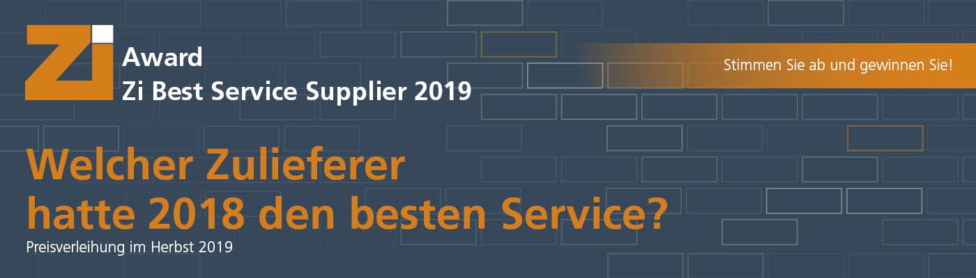 Zi Best Service Supplier 2019 Awardg